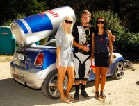 Mavis grabs a Red Bull